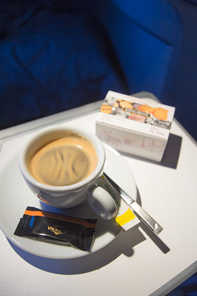 Air France New Business Class Coffee and Cookies