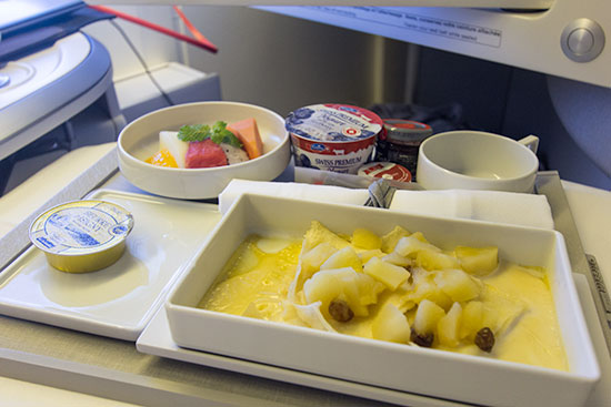 Air France New Business Class Breakfast Service