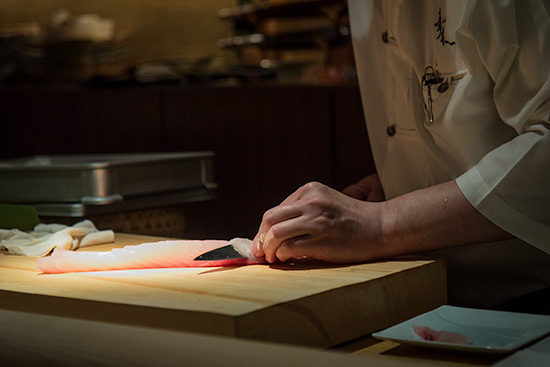 Chef Kunio Aoki at Les Amis Group Aoki Japanese Restaurant