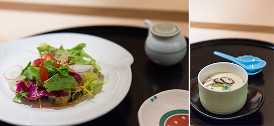 Salad and Chawanmushi at Les Amis Group Aoki Japanese Restaurant