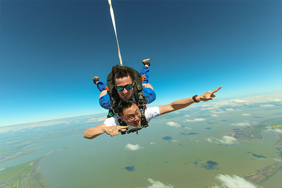 Skydiving at Langhorne Creek