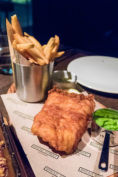 Gordon Ramsay Bread Street Kitchen Singapore Fish and Chips