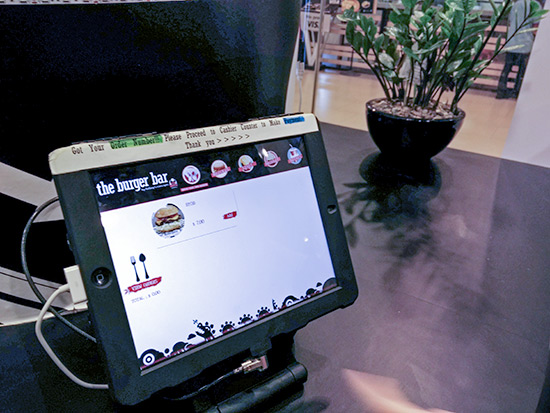 The Burger Bar iPad Ordering