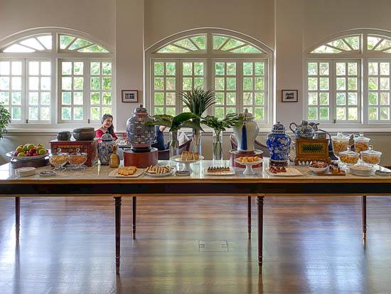 Capella Singapore Living Room Afternoon Tea