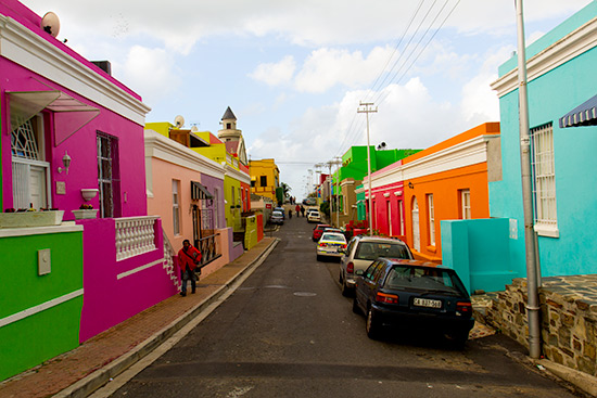 Cape Town Bo-Kaap Malay Neighbourhood