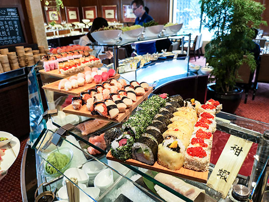 Clipper Lounge Mandarin Oriental Hong Kong Sunday Brunch Sushi