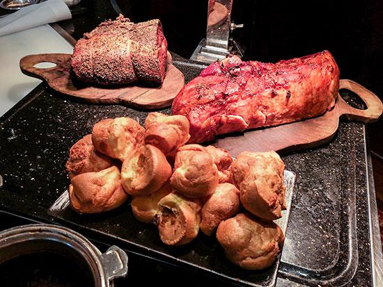 Clipper Lounge Mandarin Oriental Hong Kong Sunday Brunch Roast Beef Ham and Yorkshire Pudding