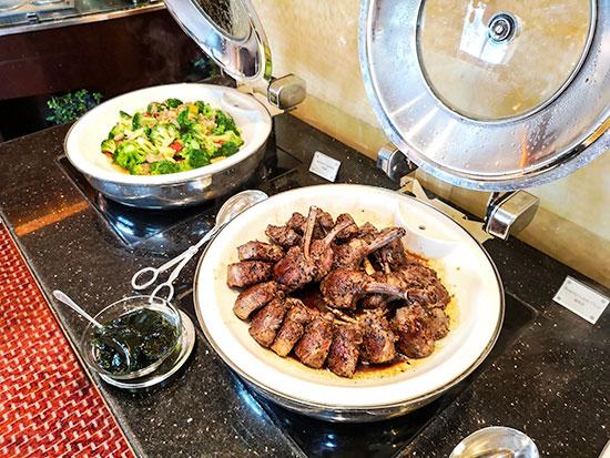 Clipper Lounge Mandarin Oriental Hong Kong Sunday Brunch Grilled Lamb and Broccoli