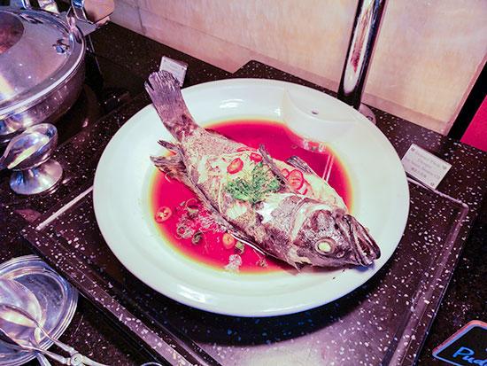 Clipper Lounge Mandarin Oriental Hong Kong Sunday Brunch Steamed Garoupa