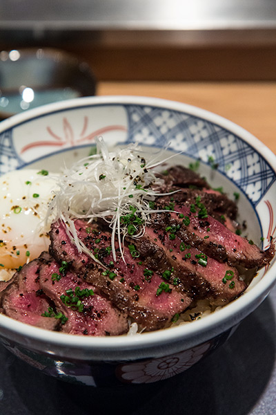 Wagyu Donburi Beef Bowl at the Fat Cow