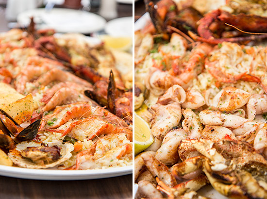 Cape Town V&A Waterfront Greek Fisherman Seafood Platter Prawns Shrimp Squid Lobster