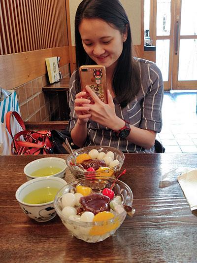 Kantaro Sweet Tooth Salaryman Shiratama Anmitsu at Hatsune