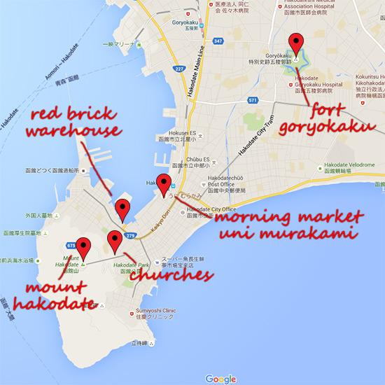 Hokkaido Autumn Guide Hakodate Map
