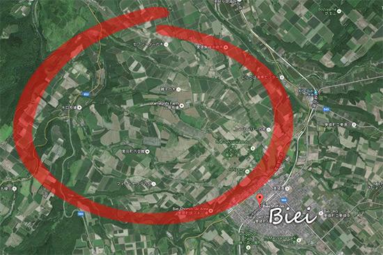 Hokkaido Autumn Guide Biei Map