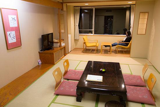 Hokkaido Autumn Guide Sounkyo Onsen Choyo Resort Japanese Room