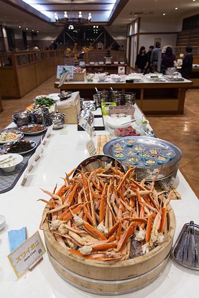 Hokkaido Autumn Guide Sounkyo Onsen Choyo Resort Buffet Dinner