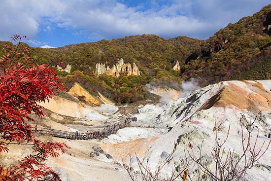 Hokkaido Autumn Guide Noboribetsu Jigokudani