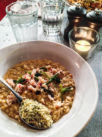 Jamie's Italian Vivocity Singapore Crab Risotto