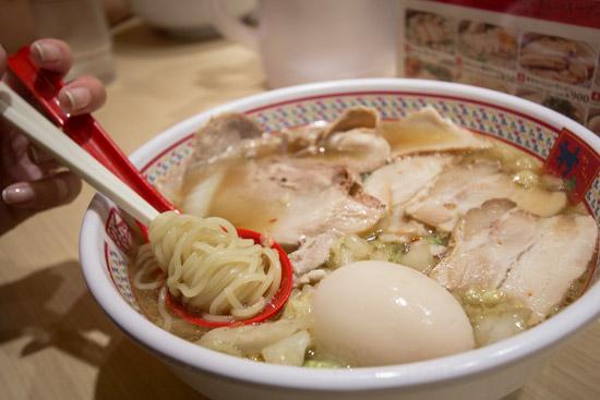 Kamakura Ramen Soup with Noodles in Dotonbori Osaka
