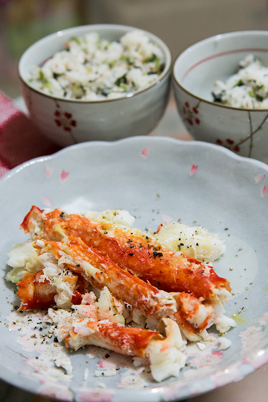 Steamed King Crab Legs