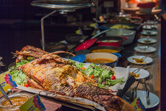 Seafood Dinner buffet Kitchen Table W Hotel Singapore Tandoori Snapper