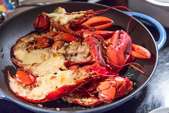Seafood Dinner buffet Kitchen Table W Hotel Singapore Lobster with Cheese