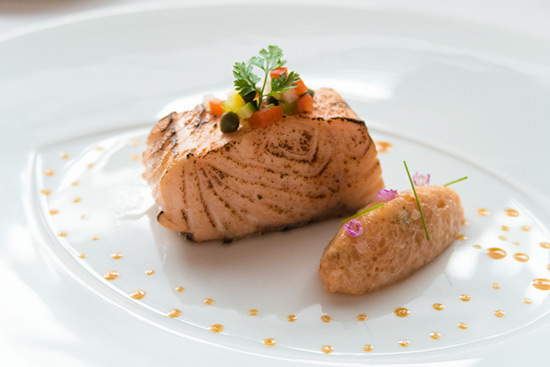 Les Amis Singapore Salmon Two Ways