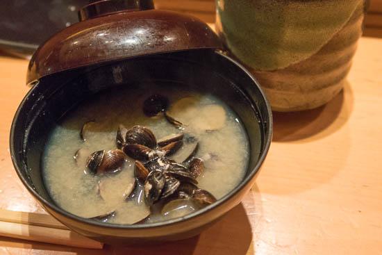 Mantenzushi Marunouchi Tokyo Shijimi Miso Soup