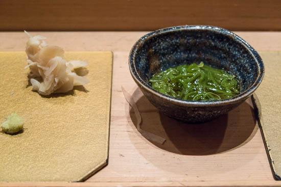 Mantenzushi Marunouchi Tokyo Sticky Slimy Seaweed