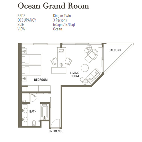 Ocean Grand Room Mandarin Oriental Singapore Layout