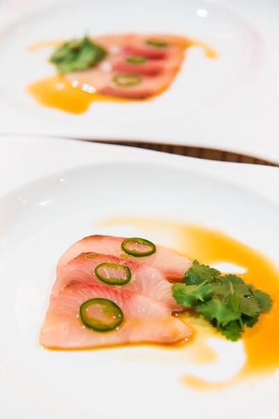 Nobu Melbourne Omakase Yellowtail Sashimi
