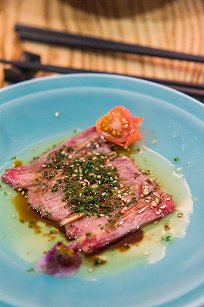 Nobu Melbourne Omakase Wagyu with Sesame Oil and Yuzu Shoyu
