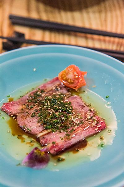 Nobu Melbourne Omakase Wagyu with Sesame Oil and Yuzu Shoyu