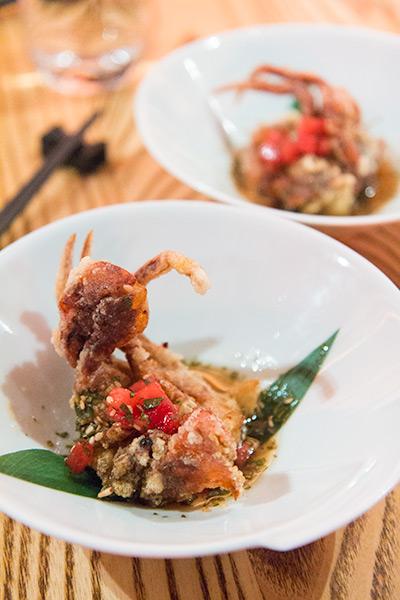 Nobu Melbourne Omakase Soft Shell Crab in Ponzu Sauce
