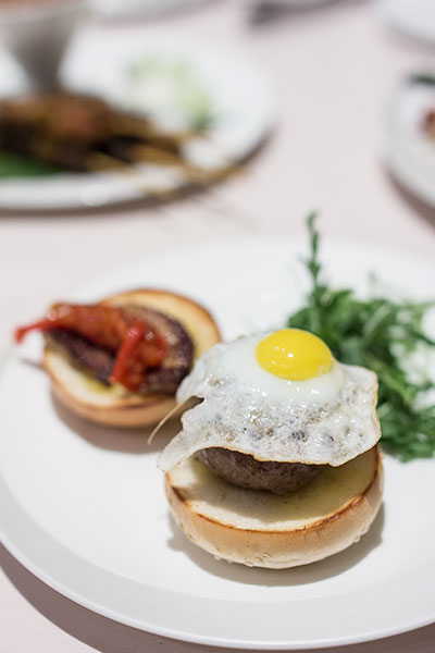 Singapore Airlines The Private Room Restaurant Quail Egg Burger