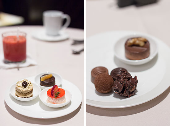 Singapore Airlines The Private Room Restaurant Truffles and Dessert