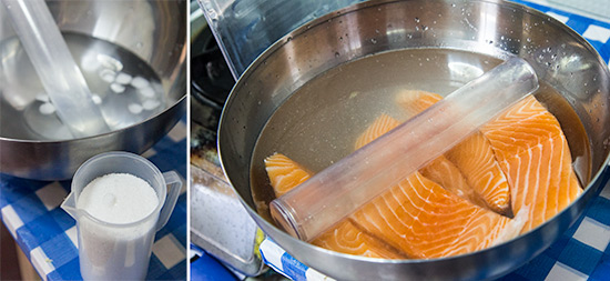 Citrus Soy Sous vide Salmon recipe