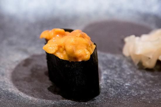 Singapore Best Omakase Sushi Shinji by Kanesaka Uni Gunkan Sushi