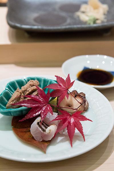 Singapore Best Omakase Sushi Shinji by Kanesaka Octopus, Tuna and Kamasu