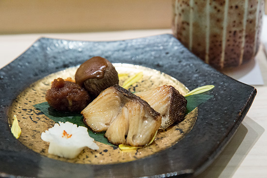 Singapore Best Omakase Sushi Shinji by Kanesaka Grilled Cod with Baby yam