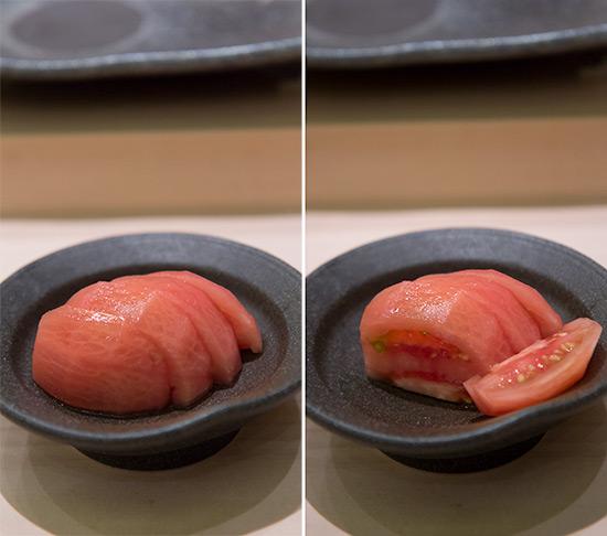 Singapore Best Omakase Sushi Shinji by Kanesaka Skinless Japanes Tomato