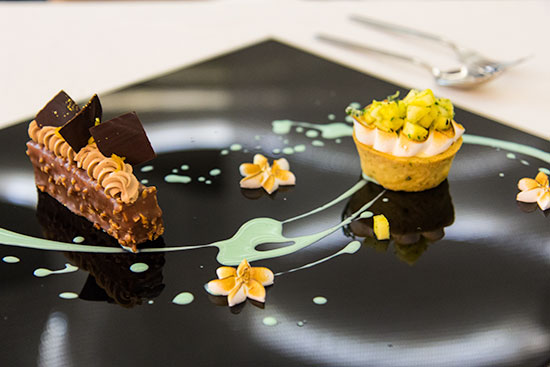 Stellar at 1-altitude Dessert Art Rocher and Rosemary Lemon Tart