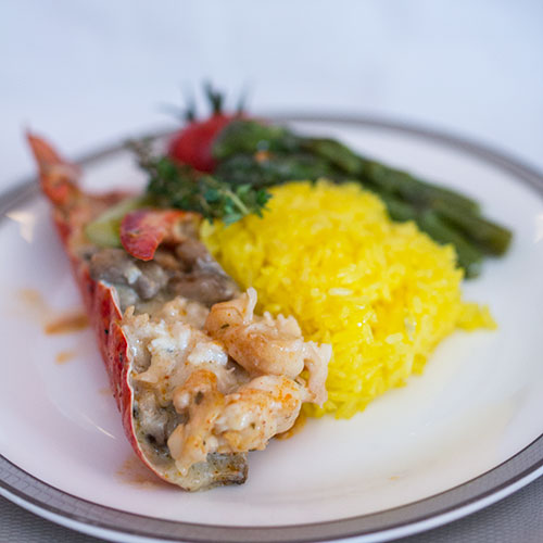 Singapore Airlines Suites SQ12 SIN-NRT Lobster Thermidor