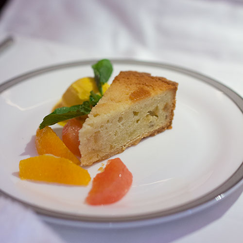 Singapore Airlines Suites SQ12 SIN-NRT Citrus Tart