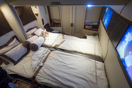 Singapore Airlines Suites SQ12 SIN-NRT Double Bed