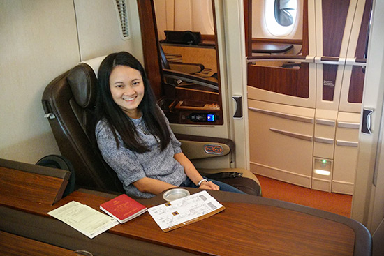 Singapore Airlines Suites SQ12 SIN-NRT Suite