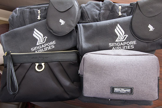 Singapore Airlines Suites SQ12 SIN-NRT Pajamas and Amenity Kits