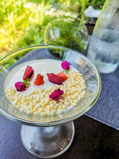 Tangerine Resorts World Sentosa Thai Fusion Fine Dining Jasmine Panna Cotta