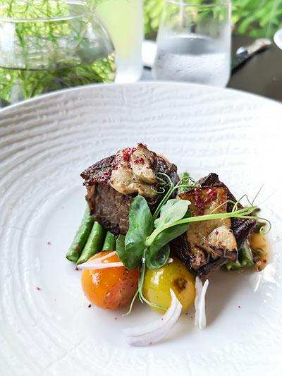 Tangerine Resorts World Sentosa Thai Fusion Fine Dining Beef Short Rib and Foie Gras