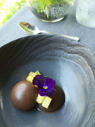 Tangerine Resorts World Sentosa Thai Fusion Fine Dining Madagascar Chocolate and Tofu Mousse
